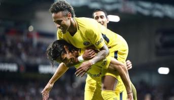 نيمار يسجل هدفا في مباراته الأولى مع باريس سان جرمان