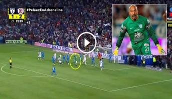 فيديو .. حارس في ال44 ينقذ فريقه بالدوري المكسيكي على طريقة راموس