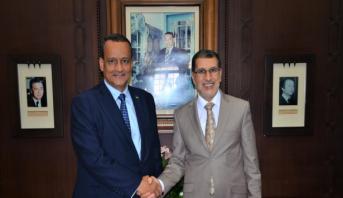 العثماني يستقبل وزير الخارجية الموريتاني إسماعيل ولد الشيخ أحمد
