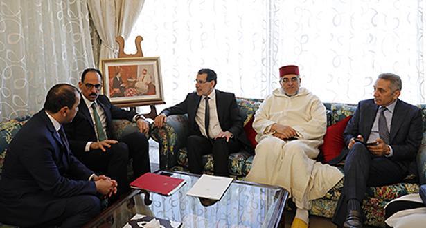 العثماني يجري مباحثات مع المستشار والمتحدث باسم الرئاسة التركية