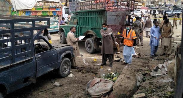 16 قتيلا وعشرات الجرحى في انفجار قنبلة جنوب غرب باكستان