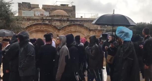 عشرات المستوطنين يقتحمون  المسجد الأقصى بحراسة مشددة من الاحتلال