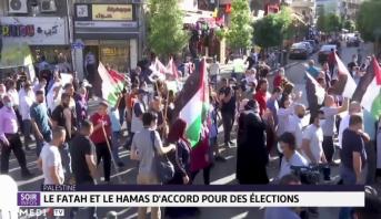 Palestine: le Fatah et le Hamas d'accord pour des élections