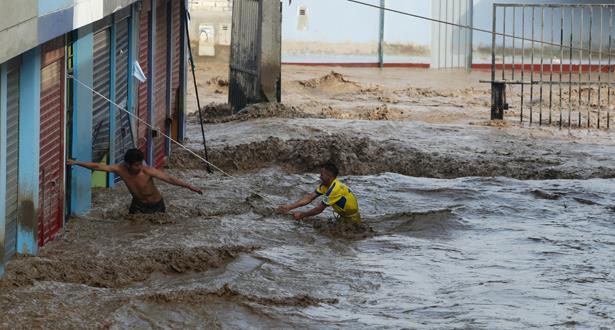 البيرو..مصرع عشرة أشخاص جراء فيضانات و انهيارات أرضية