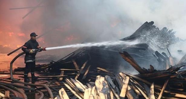 مصرع طفل إثر حريق مهول التهم ثلاثة منازل نواحي مراكش