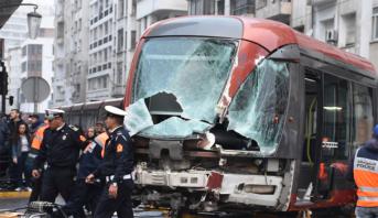 حادث سير خطير يتسبب في توقف الخط 1 لطرامواي البيضاء