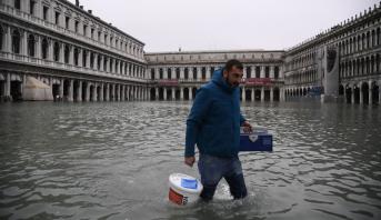 Les inondations à Venise atteignent leur niveau le plus élevé depuis 1966