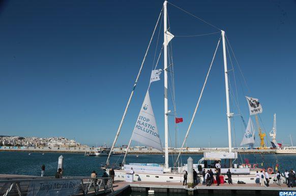 """Le voilier """"Blue panda'' fait escale à Tanger"""