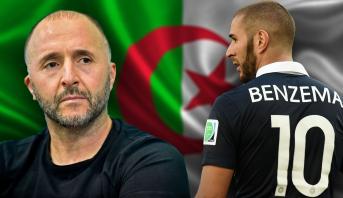 جمال بلماضي يرفض انضمام بنزيمة للمنتخب الجزائري