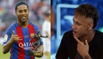 Ronaldinho aimerait revoir Neymar au Barça aux côtés de Messi