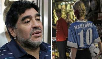"""بسبب """"قميصه"""" .. مارادونا يكسب تعويضا ضخما"""