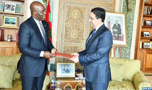 Nasser Bourita reçoit son homologue équato-guinéen, porteur d'un message au Roi Mohammed VI