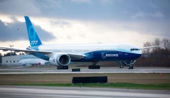 Décollage du Boeing 777X pour son vol inaugural