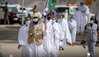 السعودية تعلن نجاح تصعيد حجاج بيت الله الحرام إلى مشعر عرفة وفق الإجراءات الوقائية