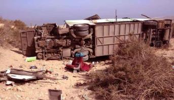 12 قتيلا في حادث انقلاب حافلة للركاب شمال مدينة أكادير