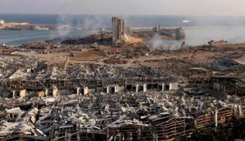 استمرار البحث عن تسعة مفقودين جراء انفجار بيروت