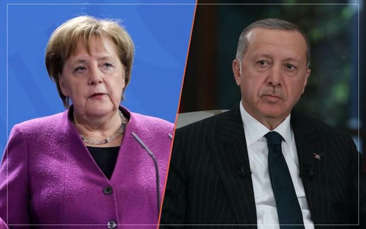 أردوغان وميركل يبحثان التطورات في القوقاز وشرق المتوسط