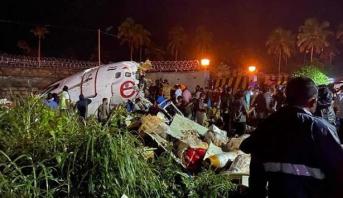 مصرع 14 شخصا وإصابة 15 بجروح جراء تحطم طائرة هندية قادمة من دبي