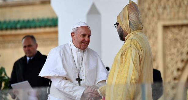 """البابا فرنسيس : زيارتي للمغرب """"ستعطي ثمارا كثيرة، وزهورها بدأت تتفتح من أجل السلام والتعايش """""""
