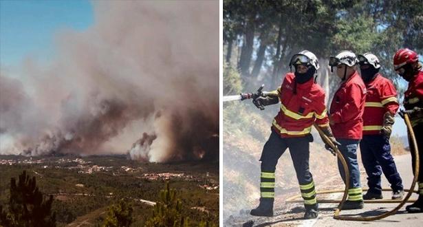 أكثر من 900 إطفائي يكافحون حرائق بوسط البرتغال