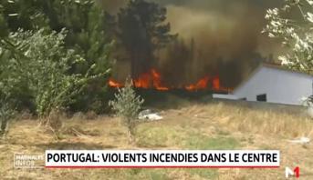 Portugal: violents incendies dans le centre