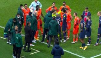 """بعد توقفها بسبب """"حادثة عنصرية"""".. أولى قرارات الـ UEFA حول مباراة سان جرمان وباشاكشهير"""