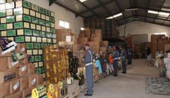 ضبط ما يفوق 300 طن من المواد المهربة بضواحي مدينة القنيطرة