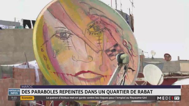 Maroc: des paraboles repeints dans un quartier de Rabat