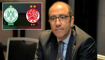 """بعد مباراة ذهاب مثيرة في """"ديربي العرب"""" .. الرجاء يخصص منحا لتحفيز لاعبيه"""