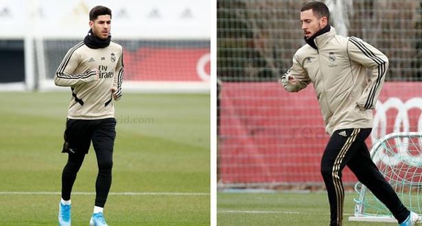 هازارد وأسينسيو يعودان لتشكيلة ريال مدريد أمام إيبار