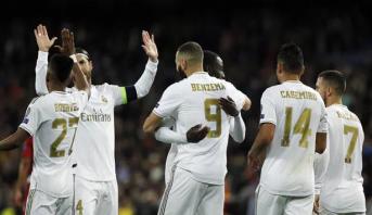 رباعية ريال مدريد تضعه في الصدارة بانتظار برشلونة