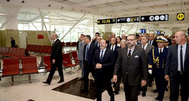 الملك محمد السادس يدشن المحطة الجوية 1 الجديدة لمطار محمد الخامس