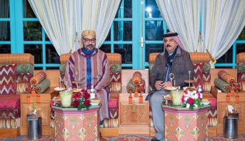 الملك محمد السادس يجري لقاء وديا بالرباط مع ملك البحرين الذي يقوم بزيارة خاصة للمغرب