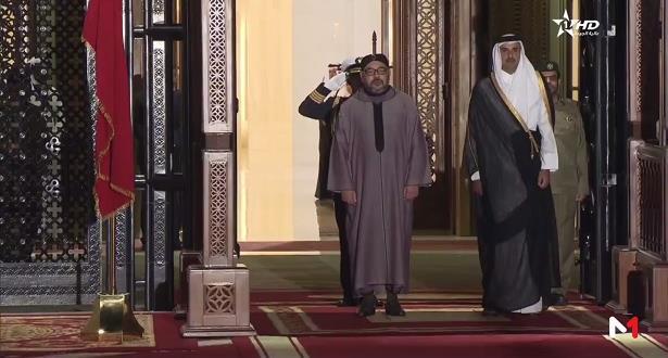 Arrivée à Doha du Roi Mohammed VI
