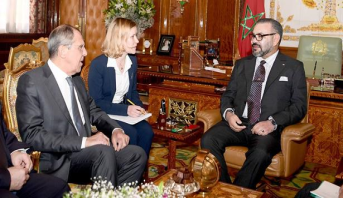Le Roi Mohammed VI reçoit le ministre des Affaires étrangères russe