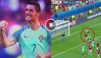 فيديو .. رونالدو يستعيد حاسته التهديفية ويعيد البرتغال لتعادل مثير مع هنغاريا