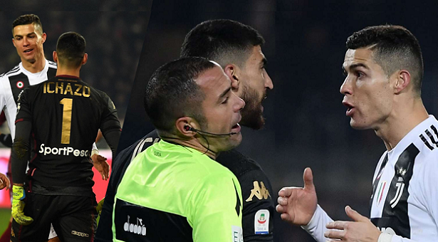 هل تعمد رونالدو استفزاز حارس تورينو بعد الهدف؟