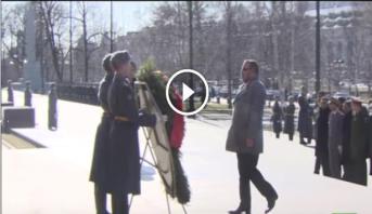 فيديو .. الملك محمد السادس يقوم بزيارة لقبر الجندي المجهول في موسكو