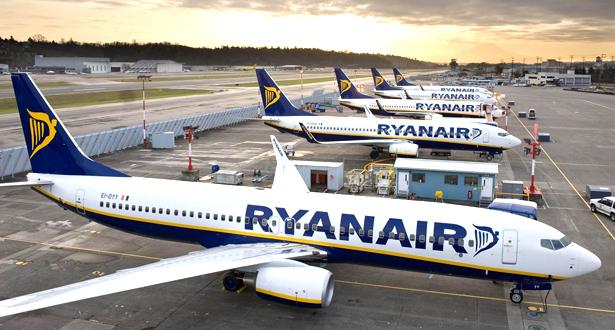 """خطوط """"راين إير"""" ستعيد تشغيل 40 بالمئة من رحلاتها ابتداء من يوليوز"""