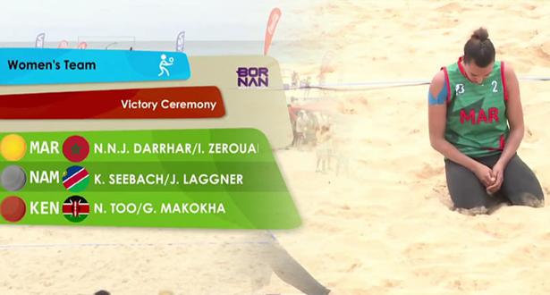سيدات المغرب يهزمن ناميبيا ويتوجن بالذهب في الكرة الشاطئية