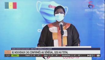 Coronavirus: 92 nouveaux cas confirmés au Sénégal, 3253 au total