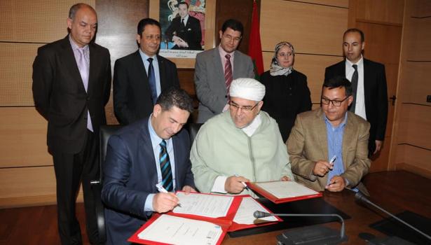 """توقيع اتفاقية شراكة إطار الخاصة بمشروع """"تنمية مدرسة حقوق الانسان 2019-2021 """""""