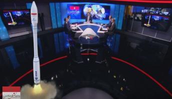 """عملية محاكاة إطلاق القمر الصناعي """"محمد السادس ب"""" على بلاطو ميدي1تيفي"""