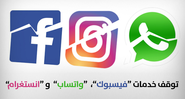 """عطل مفاجئ يتسبب في توقف خدمات """"فيسبوك"""" و """"واتساب"""" بعدد من دول العالم"""