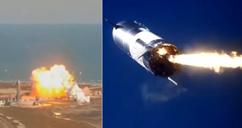 انفجار نموذج أولي من صاروخ سبايس-إكس الفضائي لدى هبوطه
