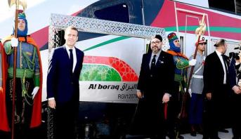 """برنامج خاص > وصول أول رحلة لـ """"البراق"""" على متنها الملك محمد السادس والرئيس الفرنسي"""