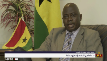 """سفير غانا بالمغرب : """"العمل الاستثنائي الذي يقوم به الملك محمد السادس تجسيد للتعاون جنوب-جنوب"""""""