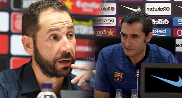"""تصريحات مدربي برشلونة واشبيلية بعد مباراة """"السوبر"""" بطنجة"""