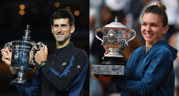 التنس .. ديوكوفيتش وهاليب الأفضل في 2018