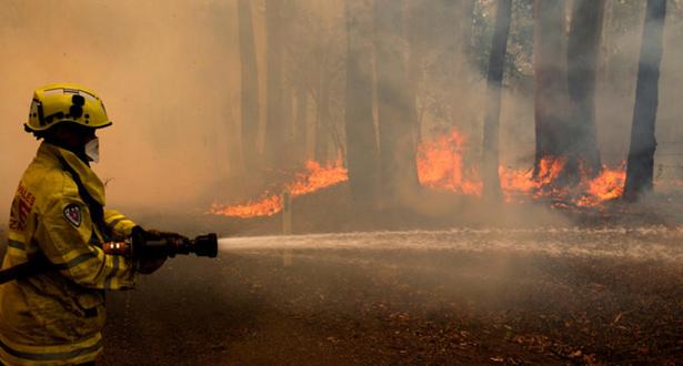 مخاوف من فقدان السيطرة على حريق سيدني قبل أسبوع